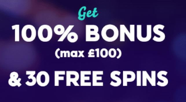 Wink Slots カジノで初回入金ボーナスの100%最大£100+30フリースピン