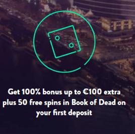 Dunderカジノで初回入金ボーナスの100%最大€100+Book of Deadで50フリースピン
