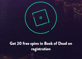 DunderカジノでBook of Deadで20フリースピン
