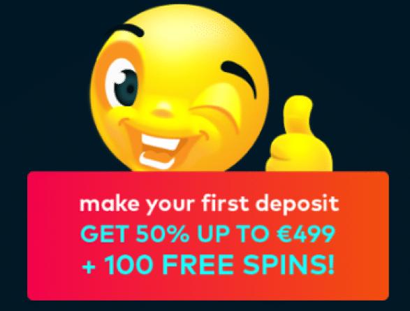 Fun Casinoで初回入金ボーナスの50%最大€499+100フリースピン