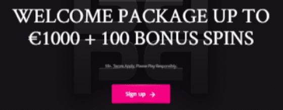 PlayGrandカジノでウェルカムパケッージの€1000+100フリースピン