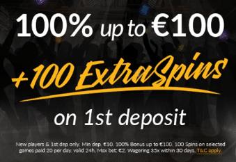 ♦ ShadowBetカジノでウェルカムボーナスの100%最大€100+100フリースピン