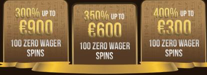 ♦ Osiris Casinoでウェルカムパッケージ