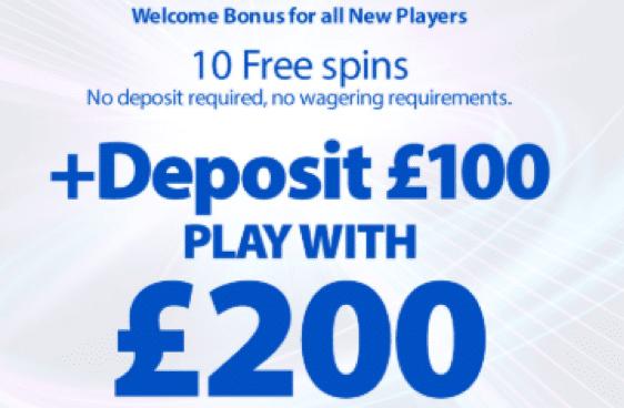 BGO Casinoでウェルカムボーナスの100%最大£200