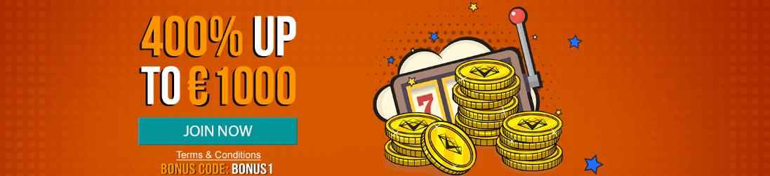 ♦ Casino Superlinesで初回入金ボーナスの400%最大€1000