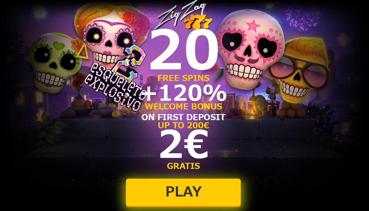 ♦ ZigZag777.comで€2入金不要ボーナス